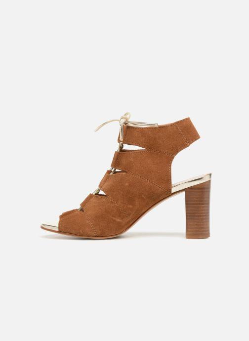 Sandales et nu-pieds Georgia Rose Calista Marron vue face