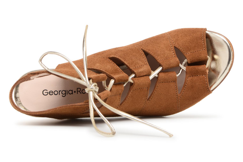 Sandales et nu-pieds Georgia Rose Calista Marron vue gauche