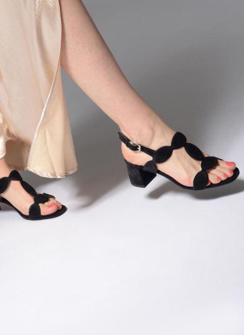 Sandales et nu-pieds Georgia Rose Covala Bleu vue bas / vue portée sac