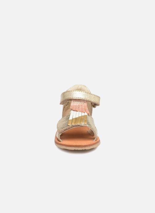 Sandales et nu-pieds Noël Mini Sava Or et bronze vue portées chaussures