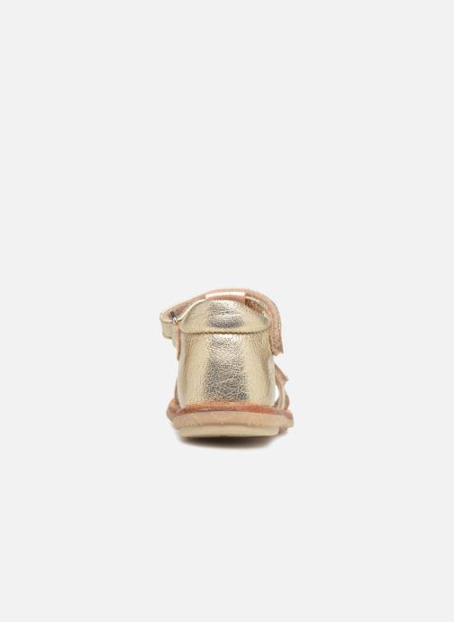 Sandales et nu-pieds Noël Mini Sava Or et bronze vue droite