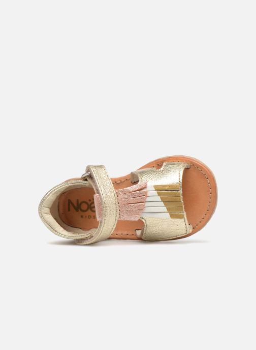 Sandales et nu-pieds Noël Mini Sava Or et bronze vue gauche