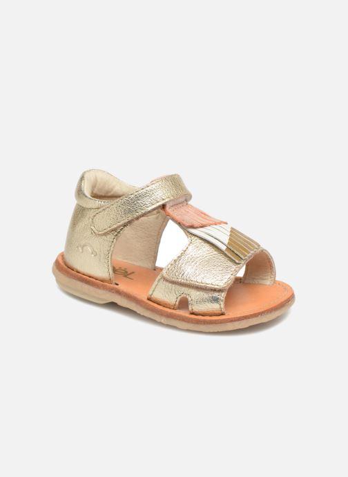 Sandales et nu-pieds Noël Mini Sava Or et bronze vue détail/paire
