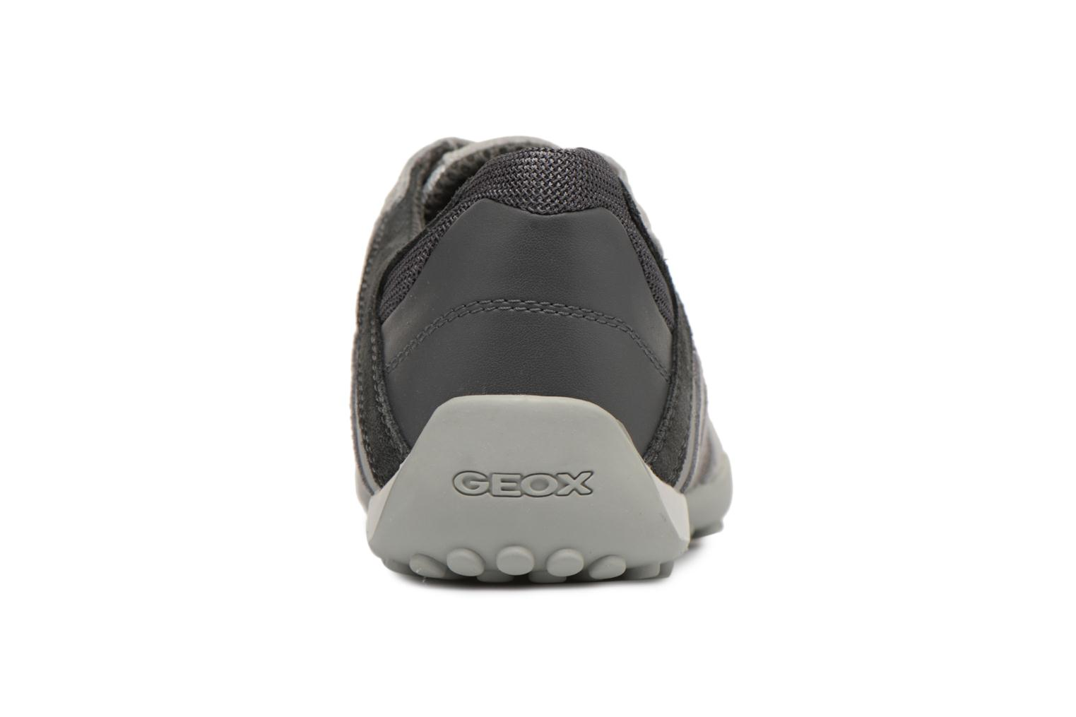 Trainers Geox U SNAKE E U8207E Grey view from the right