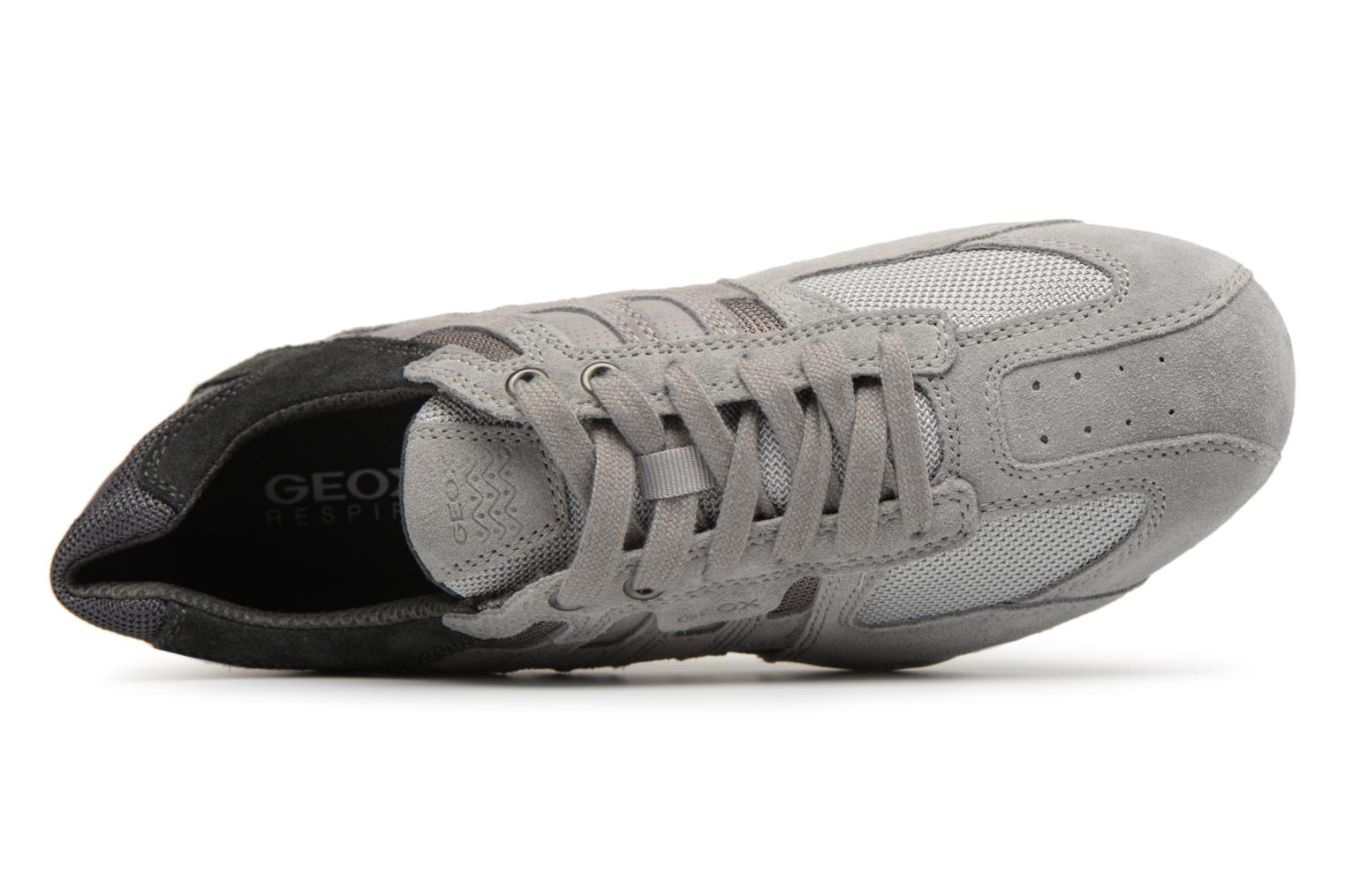 Trainers Geox U SNAKE E U8207E Grey view from the left