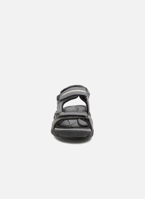 Sandales et nu-pieds Geox U S.STRADA D U8224D Gris vue portées chaussures