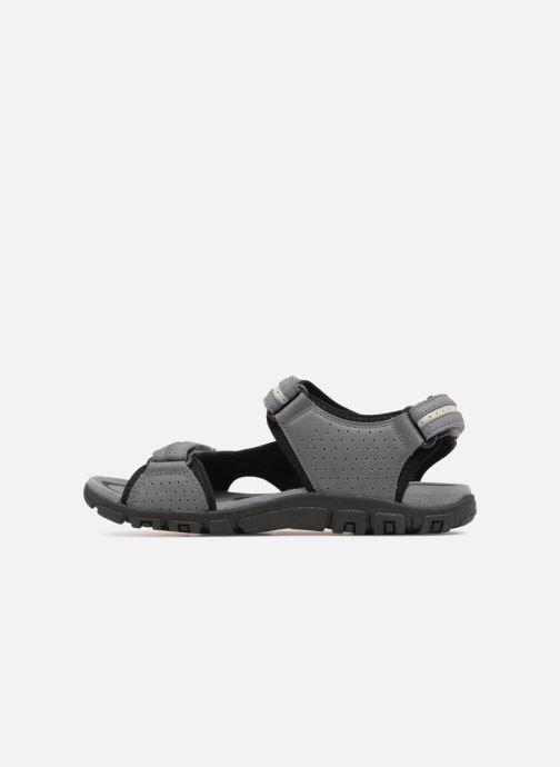Sandales et nu-pieds Geox U S.STRADA D U8224D Gris vue face