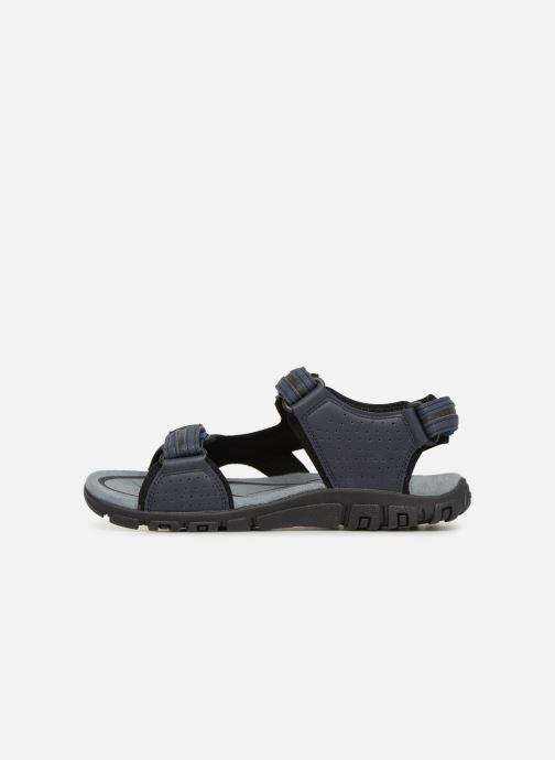 Sandales et nu-pieds Geox U S.STRADA D U8224D Bleu vue face
