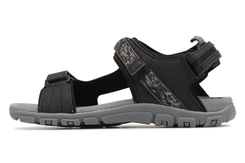 Sandals Geox U S.STRADA A U8224A Black front view