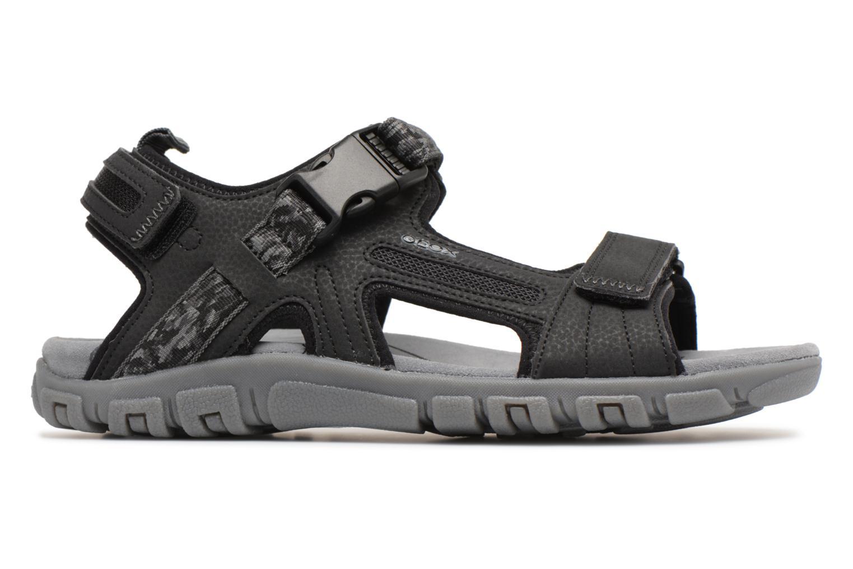 Sandals Geox U S.STRADA A U8224A Black back view