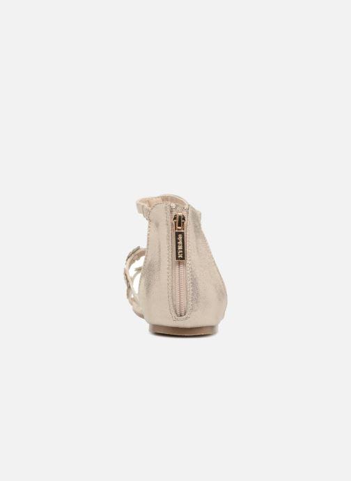 Sandales et nu-pieds Xti Antonia Or et bronze vue droite