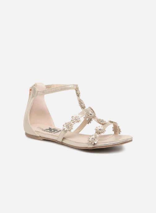 Sandales et nu-pieds Xti Antonia Or et bronze vue détail/paire