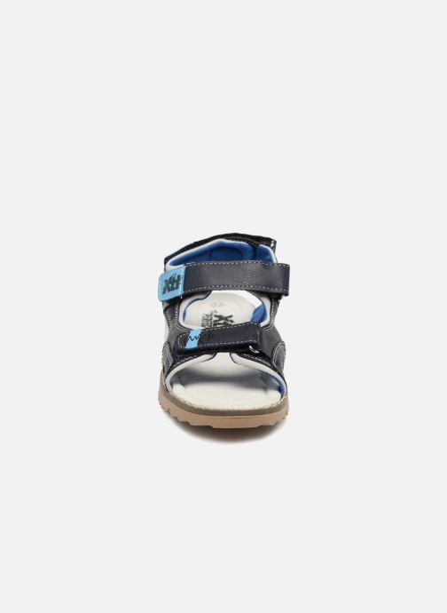 Sandales et nu-pieds Xti Brando Bleu vue portées chaussures