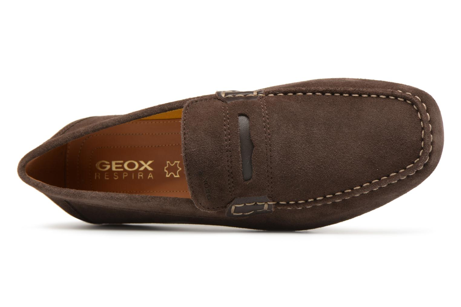 Loafers Geox U SNAKE MOC A U8207A Brown view from the left