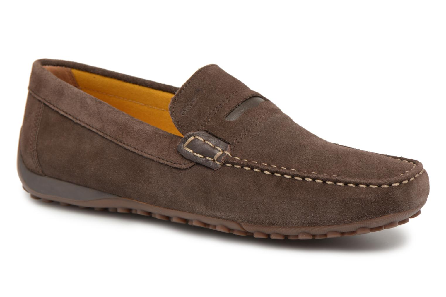 Loafers Geox U SNAKE MOC A U8207A Brown detailed view/ Pair view