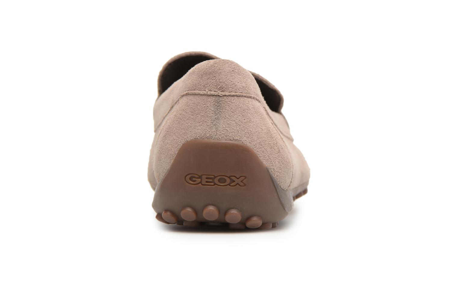 Loafers Geox U SNAKE MOC A U8207A Brown view from the right