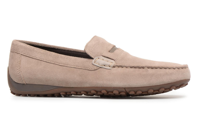 Loafers Geox U SNAKE MOC A U8207A Brown back view
