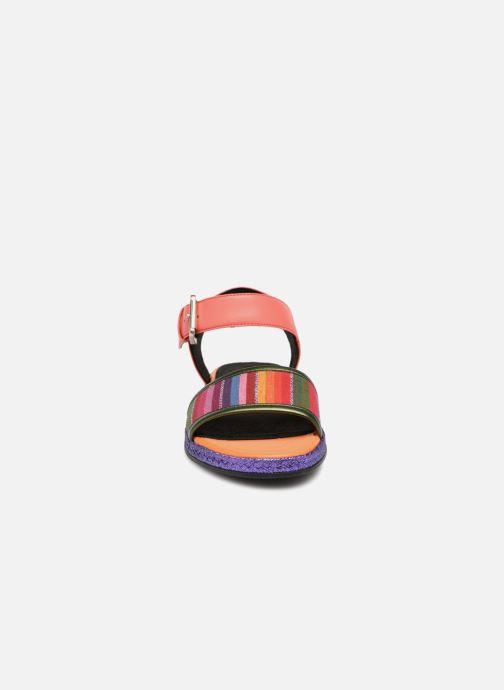 Sandales et nu-pieds Geox D KOLLEEN J D825SJ Orange vue portées chaussures