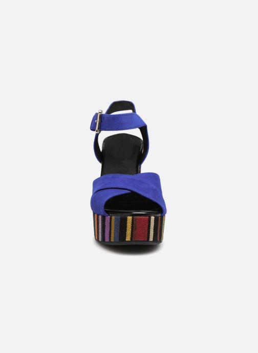 Sandales et nu-pieds Geox D GALENE C D828WC Bleu vue portées chaussures