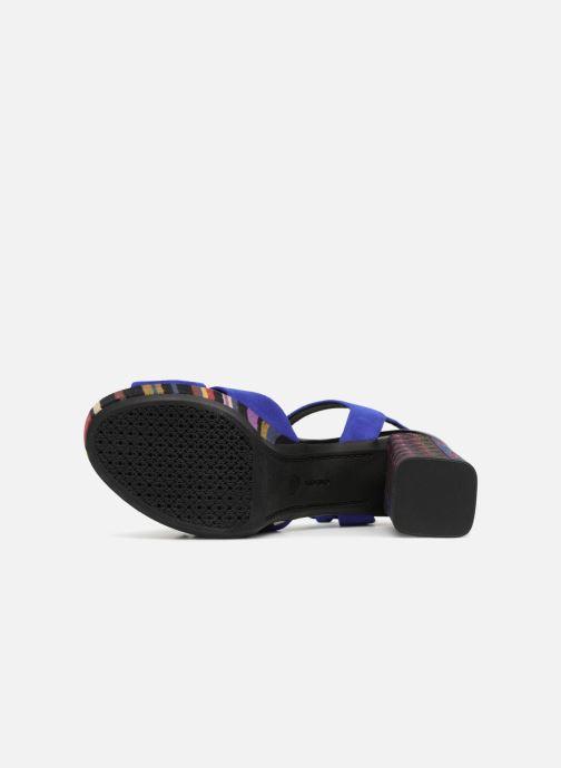 Sandales et nu-pieds Geox D GALENE C D828WC Bleu vue haut