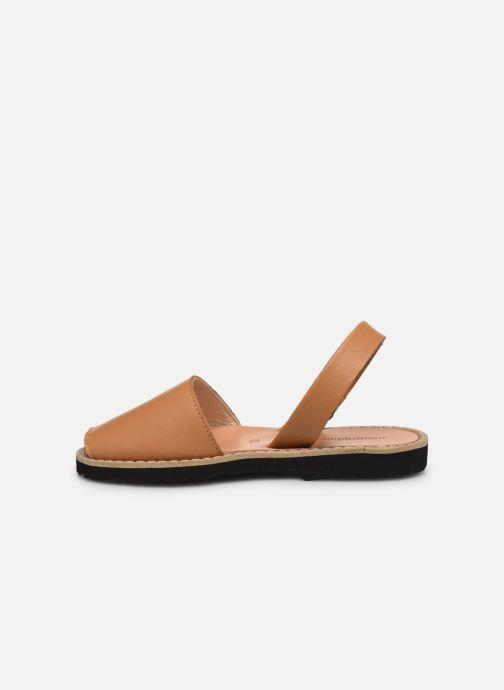 Sandalen Minorquines Avarca E braun ansicht von vorne