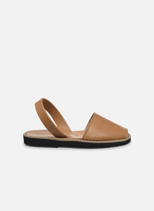 Sandalen Minorquines Avarca E braun ansicht von hinten