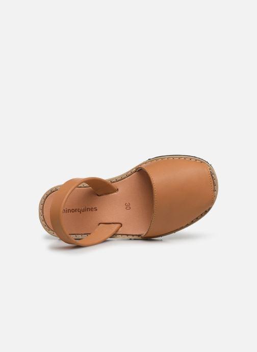 Sandales et nu-pieds MINORQUINES Avarca E Marron vue gauche