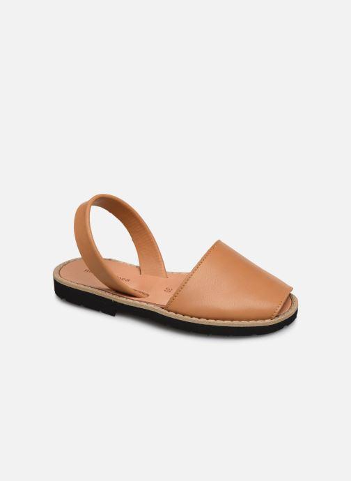 Sandaler MINORQUINES Avarca E Brun detaljeret billede af skoene