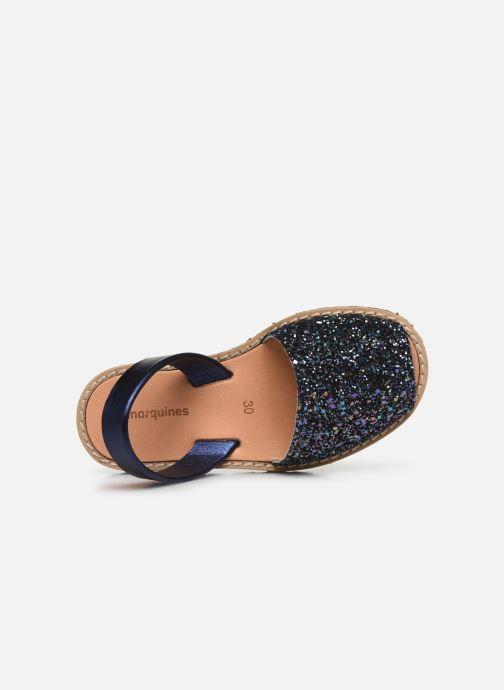 Sandalias MINORQUINES Avarca E Azul vista lateral izquierda