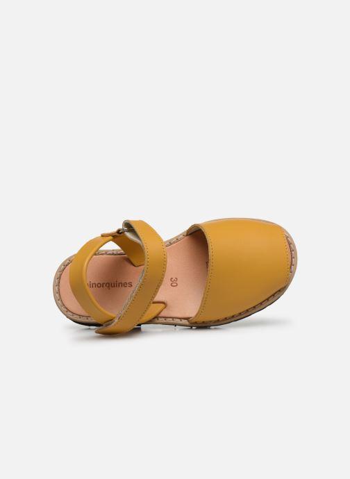Sandalias MINORQUINES Avarca E Amarillo vista lateral izquierda