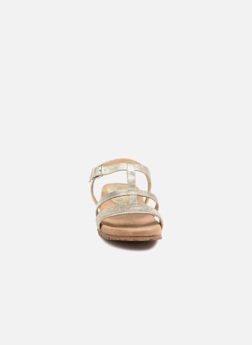 Sandales et nu-pieds Unisa Korsi Or et bronze vue portées chaussures