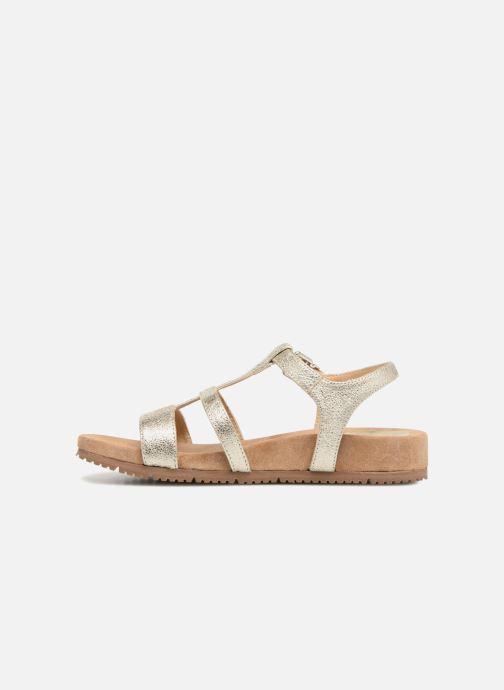 Sandales et nu-pieds Unisa Korsi Or et bronze vue face