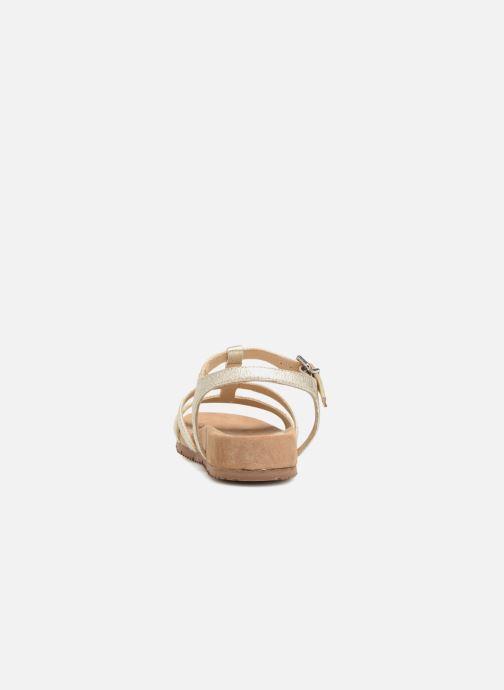 Sandales et nu-pieds Unisa Korsi Or et bronze vue droite