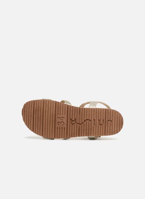 Sandales et nu-pieds Unisa Korsi Or et bronze vue haut