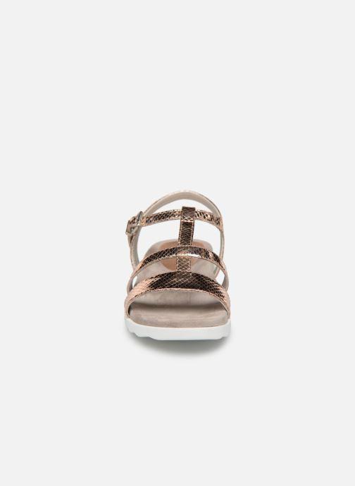 Sandalen Unisa Korsi gold/bronze schuhe getragen