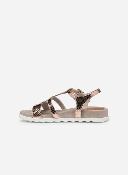 Sandals Unisa Korsi Bronze and Gold front view