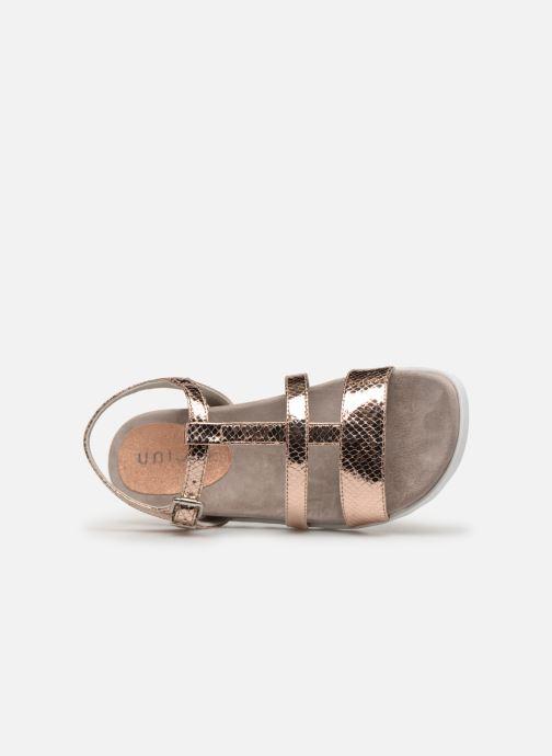 Sandales et nu-pieds Unisa Korsi Or et bronze vue gauche