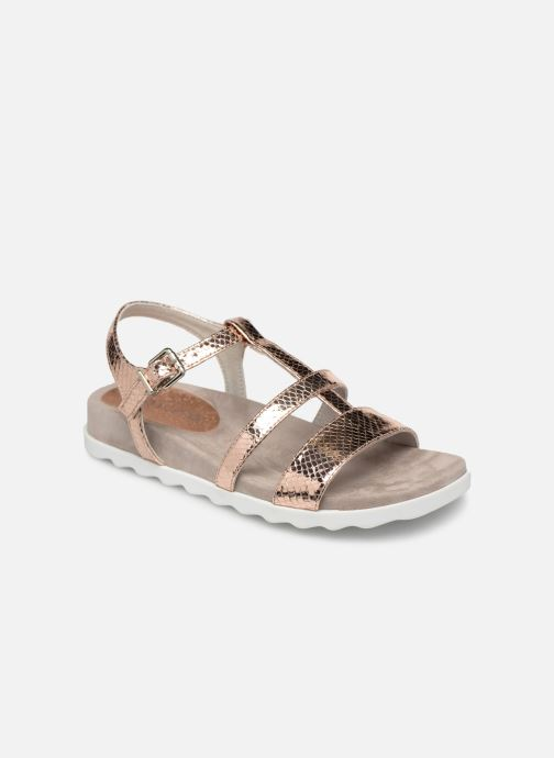 Sandals Unisa Korsi Bronze and Gold detailed view/ Pair view