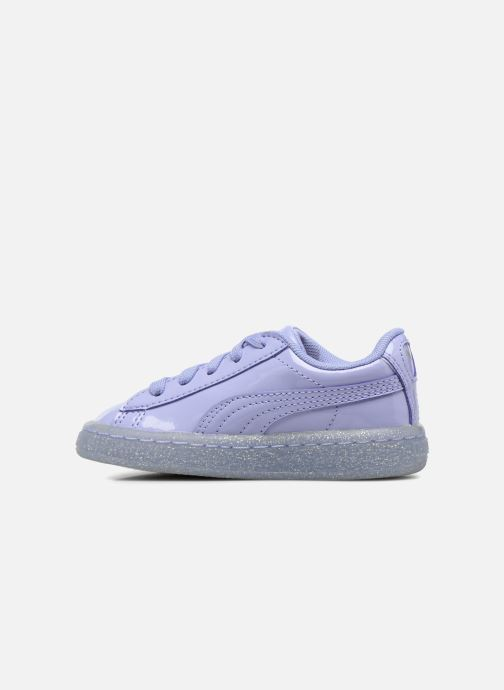 Sneakers Puma Inf Basket Patent Blå se forfra