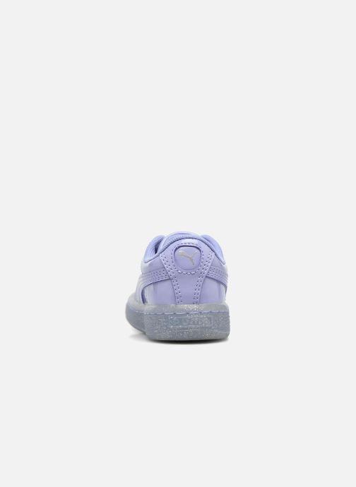 Sneakers Puma Inf Basket Patent Blå Se fra højre
