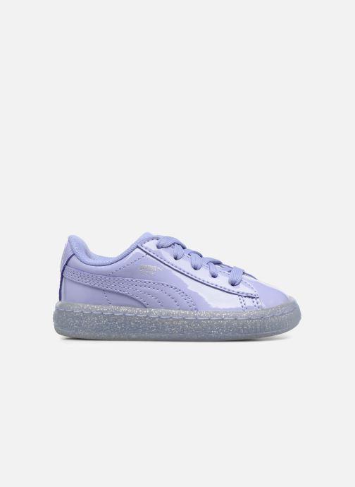 Sneakers Puma Inf Basket Patent Blå se bagfra