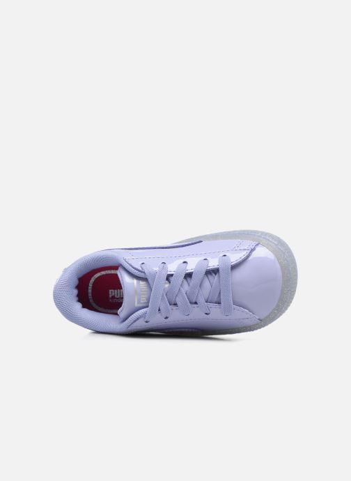 Sneakers Puma Inf Basket Patent Blå se fra venstre