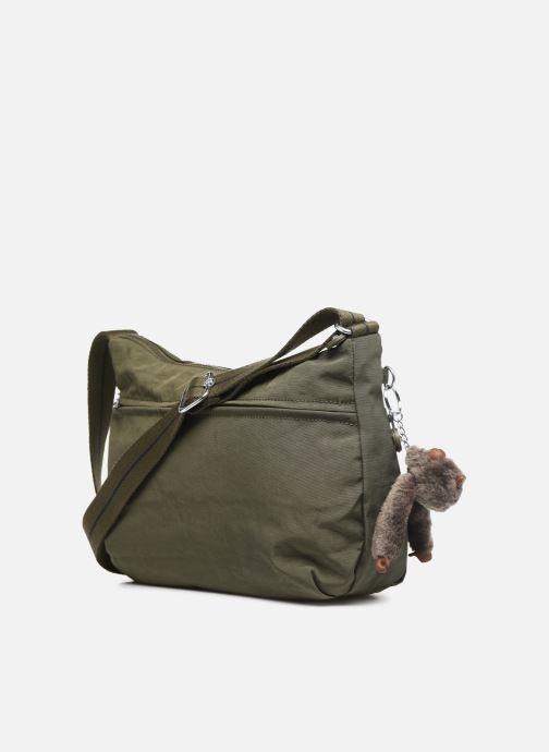Handtaschen Kipling Izellah grün ansicht von rechts