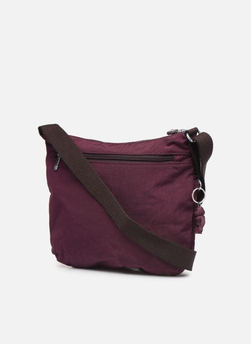 Handtaschen Kipling Arto weinrot ansicht von rechts