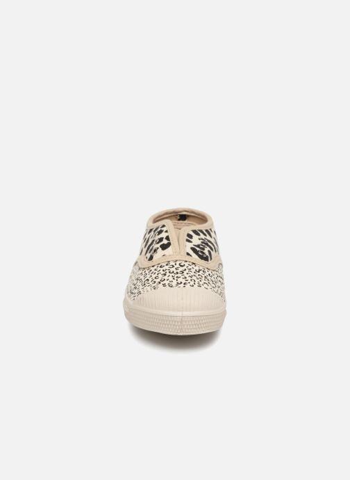 Baskets Bensimon Tennis Elly Mixleo E Beige vue portées chaussures