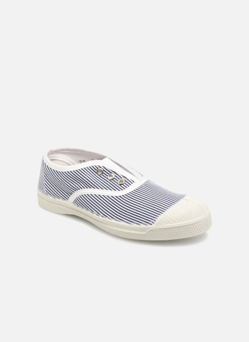 Trainers Bensimon Tennis Elly Fines Rayures E Blue detailed view/ Pair view