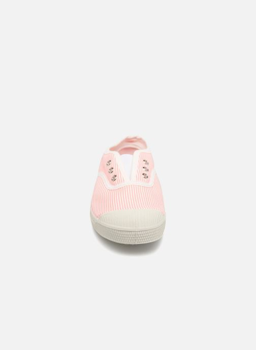 Trainers Bensimon Tennis Elly Fines Rayures E Pink model view
