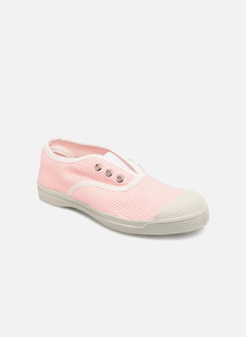 Trainers Bensimon Tennis Elly Fines Rayures E Pink detailed view/ Pair view