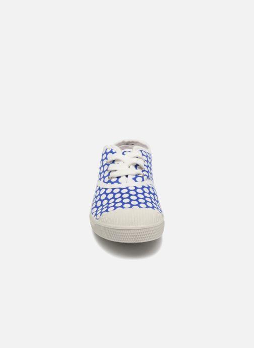 Baskets Bensimon Tennis Lacets Colorspots E Bleu vue portées chaussures