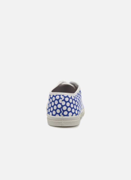Baskets Bensimon Tennis Lacets Colorspots E Bleu vue droite